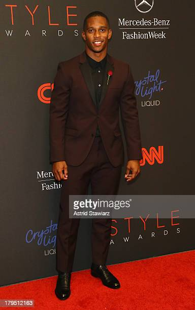 Professional football player Victor Cruz attends the 10th annual Style Awards during Mercedes Benz Fashion Week Spring 2014 at Lincoln Center on...