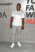 Professional Football Player Victor Cruz attends the opening event for New York Fashion Week Men's S/S 2016 at Amazon Imaging Studio on July 13 2015...