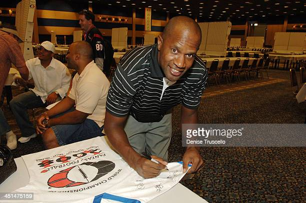 Professional football playerTodd Lyght attends the 2008 World Championship of Fantacy Football Celebrity League at the Hilton Hotel and Casino on...