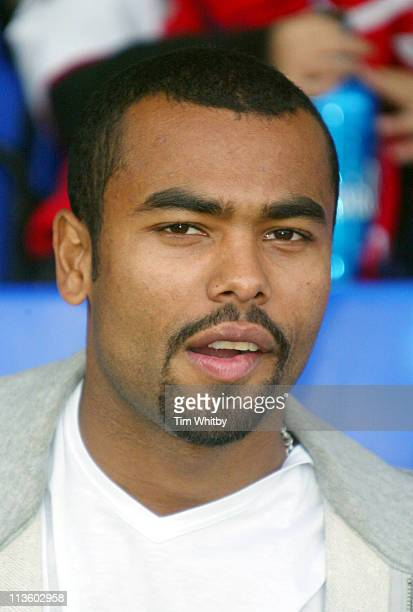 Professional footballer Ashley Cole at a celebrity football match today at Walham Forest FC in Walthamstow East London The days events were organised...