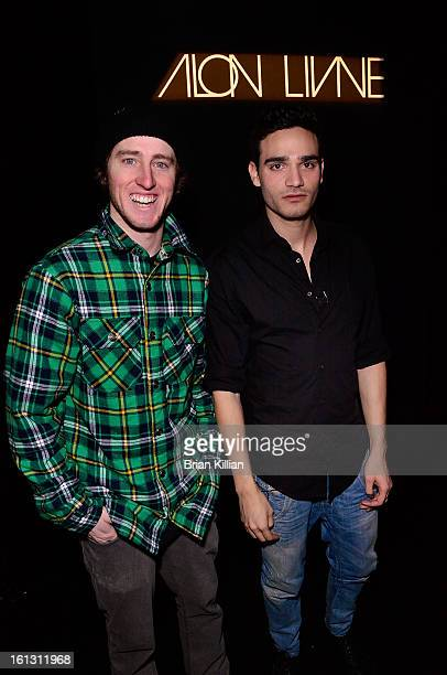 Professional freeskier Tom Wallisch and designer Alon Livne attend the Alon Livne Presentation during Fall 2013 MercedesBenz Fashion Week at The Box...