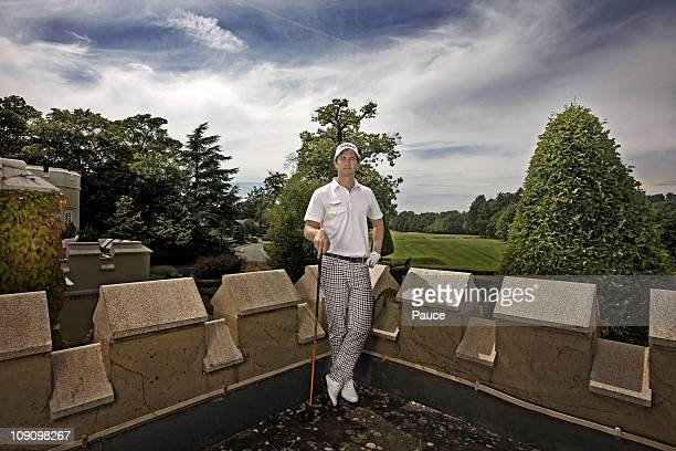 Professional golf player Adam Scott poses at a portrait session in June 2010 in London Unpublished image