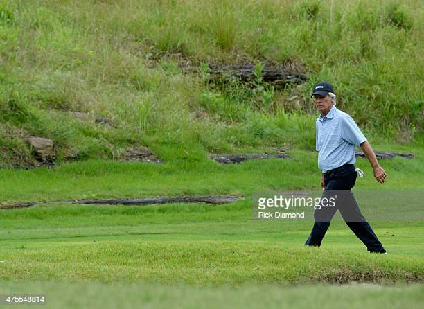 Professional Golfer Ben Crenshaw attends The 23nd Annual Vinny ProCelebrityJunior Golf Invitational hosted by Vince Gill at the Golf Club of...