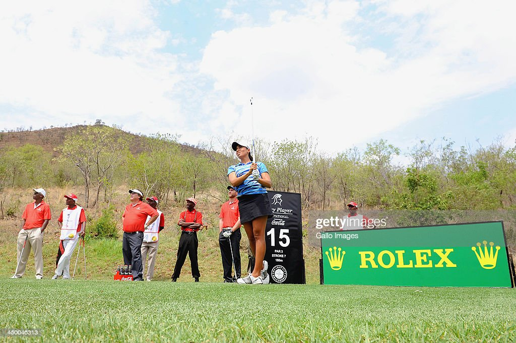 Professional Golfer Cheyenne Woods in action during Round 1 of the Gary Player Invitational presented by Coca-Cola at the Lost City Golf Course on November 16, 2013 in Sun City, South Africa.