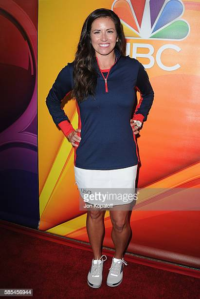 Professional golfer Gerina Piller arrives at the 2016 Summer TCA Tour NBCUniversal Press Tour Day 1 at The Beverly Hilton Hotel on August 2 2016 in...