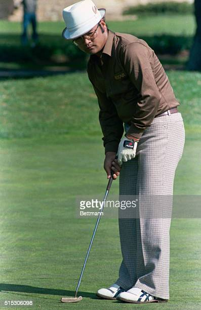 Professional Golfer Kikuo Arai Holding Driver