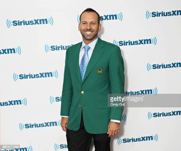 Professional golfer/ Masters winner Sergio Garcia visits the SiriusXM Studios on April 11 2017 in New York City