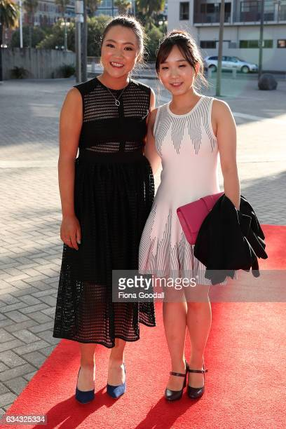 Professional golfer olfer Lydia Ko and friend arrive at the 54th Halberg Awards at Vector Arena on February 9 2017 in Auckland New Zealand