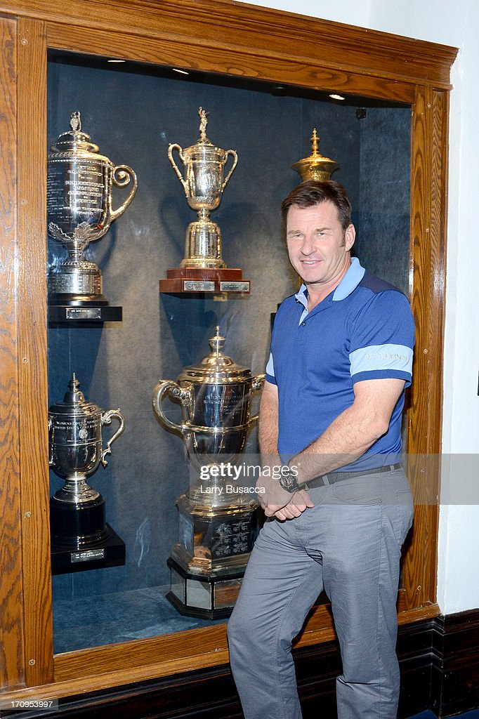 Professional golfer Sir Nick Faldo attends a Gold Day hosted by Glenmorangie and Sir Nick Faldo at Winged Foot Golf Club on June 20, 2013 in Mamaroneck, New York.