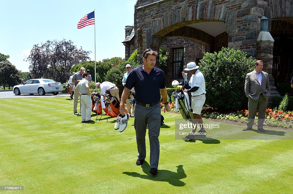 Professional golfer Sir Nick Faldo attends a Golf Day hosted by Glenmorangie and Sir Nick Faldo at Winged Foot Golf Club on June 20, 2013 in Mamaroneck, New York.