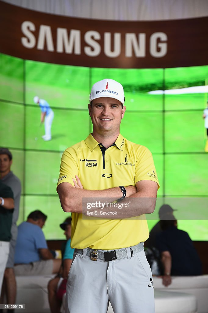 Professional golfer Zach Johnson drops by The Samsung Experience at the PGA Championship 2016 at Baltusrol Golf Club on July 28, 2016 in Springfield, New Jersey.