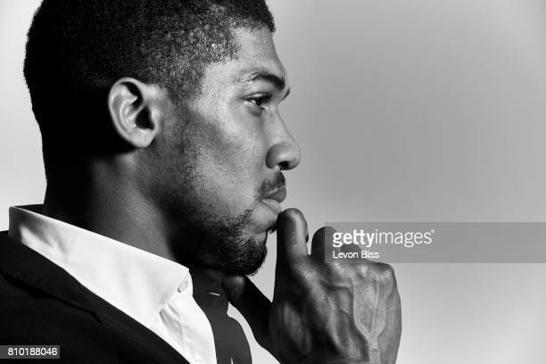 Professional heavyweight boxer Anthony Joshua is photographed for the Observer on April 2 2017 in London England