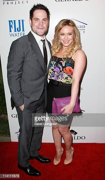 Professional hockey player Mike Comrie and wife actress Hilary Duff attend An Evening of 'Southern Style' presented by the St Bernard Project the...