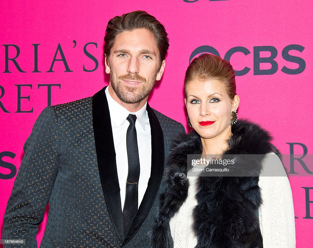 Professional Ice hockey player <a gi-track='captionPersonalityLinkClicked' href=/galleries/search?phrase=Henrik+Lundqvist&family=editorial&specificpeople=217958 ng-click='$event.stopPropagation()'>Henrik Lundqvist</a> and olympic athlete Therese Lundqvist attend the 2013 Victoria's Secret Fashion Show at Lexington Avenue Armory on November 13, 2013 in New York City.