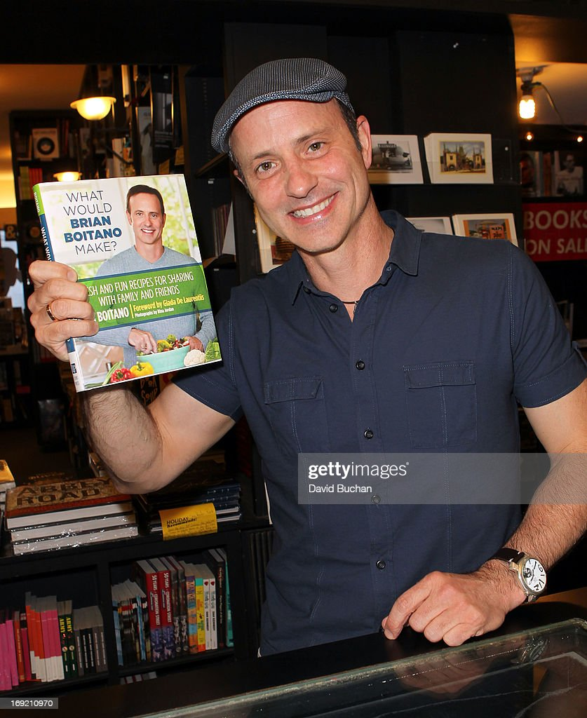 Professional Ice Skater <a gi-track='captionPersonalityLinkClicked' href=/galleries/search?phrase=Brian+Boitano&family=editorial&specificpeople=961482 ng-click='$event.stopPropagation()'>Brian Boitano</a> attends his Book Signing For 'What Would <a gi-track='captionPersonalityLinkClicked' href=/galleries/search?phrase=Brian+Boitano&family=editorial&specificpeople=961482 ng-click='$event.stopPropagation()'>Brian Boitano</a> Make?' at Book Soup on May 21, 2013 in West Hollywood, California.
