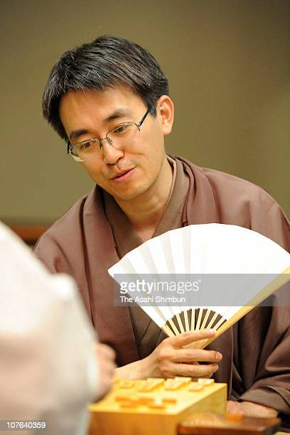 Professional Japanese chess player Yoshiharu Habu is seen during the Meijin tournament 4th game on May 19 2010 in Fukuoka Japan