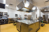 professional kitchen . stainless