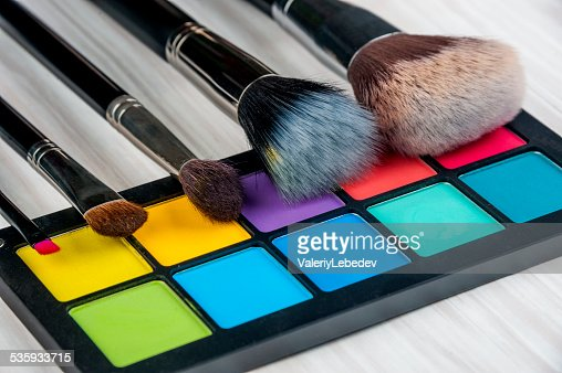 Professional make-up brush : Stock Photo