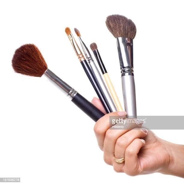 Pinceles de maquillaje profesional aislado en blanco