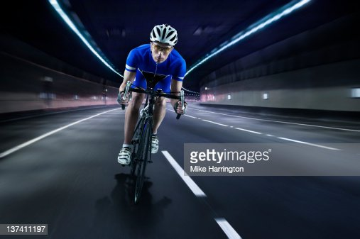 Professional Male Cyclist : Stock Photo