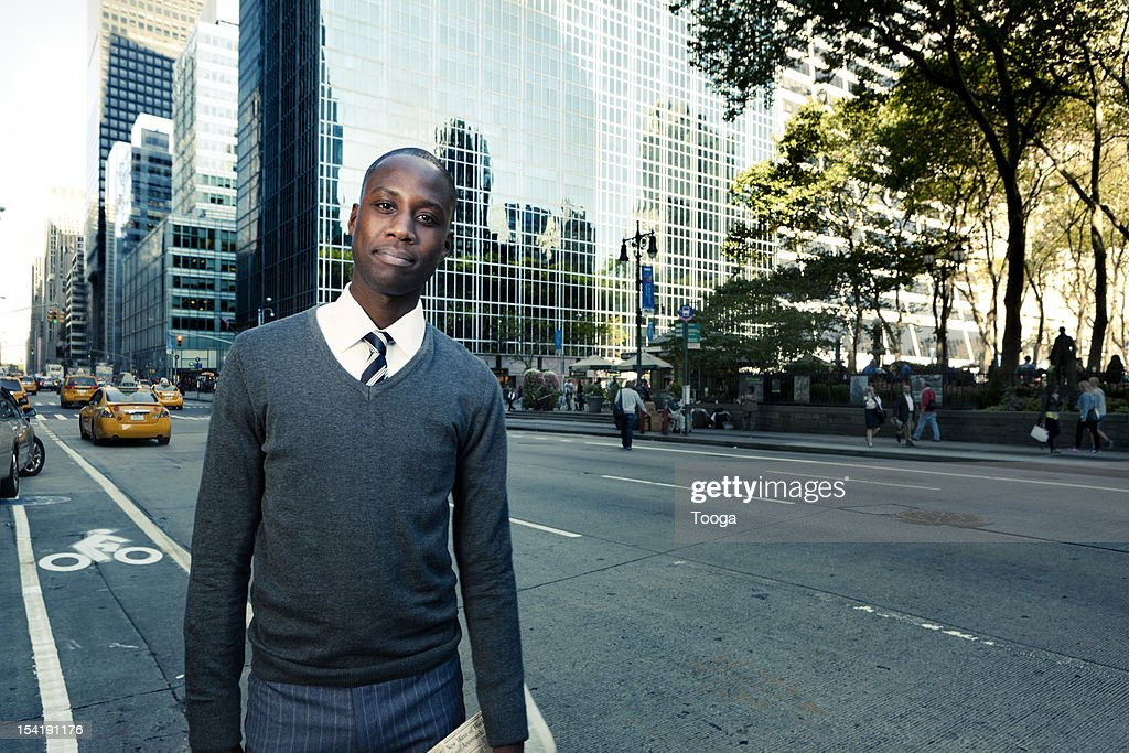 Professional male on city street : Stock Photo