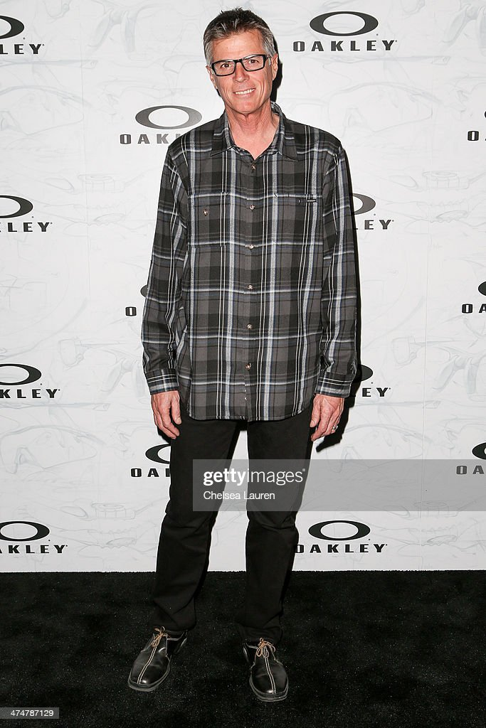 Professional motocross racer Mike Bell arrives at Oakley's Disruptive by Design at Red Studios on February 24, 2014 in Los Angeles, California.