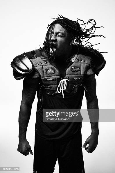Professional NFL football player Dashon Goldson is photographed for Self Assignment on April 11 2013 in Los Angeles California
