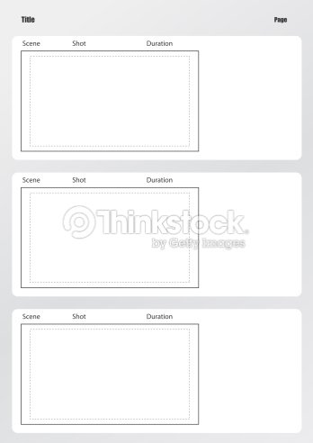 Professional Of Film Storyboard Template Vertical Stock Photo ...
