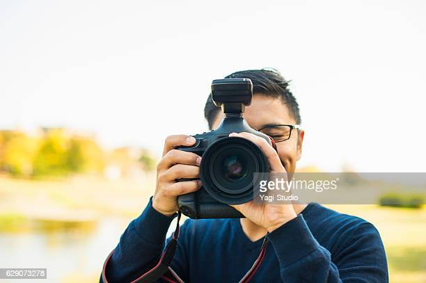 Professional Photographer taking a photo