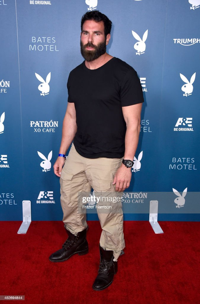 Professional poker player <a gi-track='captionPersonalityLinkClicked' href=/galleries/search?phrase=Dan+Bilzerian&family=editorial&specificpeople=8685189 ng-click='$event.stopPropagation()'>Dan Bilzerian</a> attends Playboy and A&E 'Bates Motel' Event during Comic-Con International 2014 on July 25, 2014 in San Diego, California.