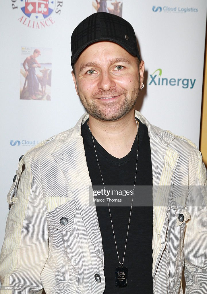 Professional Poker player <a gi-track='captionPersonalityLinkClicked' href=/galleries/search?phrase=Daniel+Negreanu&family=editorial&specificpeople=490900 ng-click='$event.stopPropagation()'>Daniel Negreanu</a> attends the 5th Annual 'All in for CP' Celebrity Poker tournament at the Venetian Hotel and Casino Resort on December 8, 2012 in Las Vegas, Nevada.