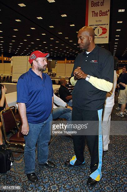 Professional poker player Dennis Phillips and professional basketball player John Salley attend the 2008 World Championship of Fantacy Football...