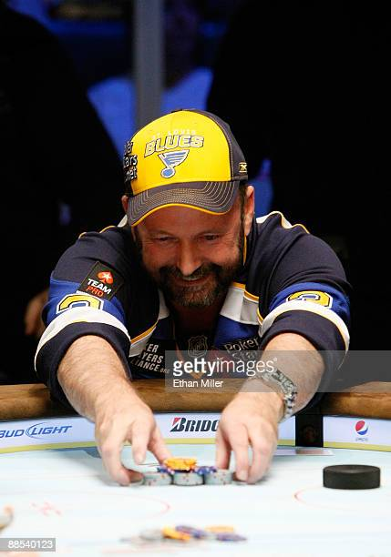 Professional Poker player Dennis Phillips participates in the NHL Charity Shootout at the World Series of Poker at the Rio Hotel Casino in Las Vegas...