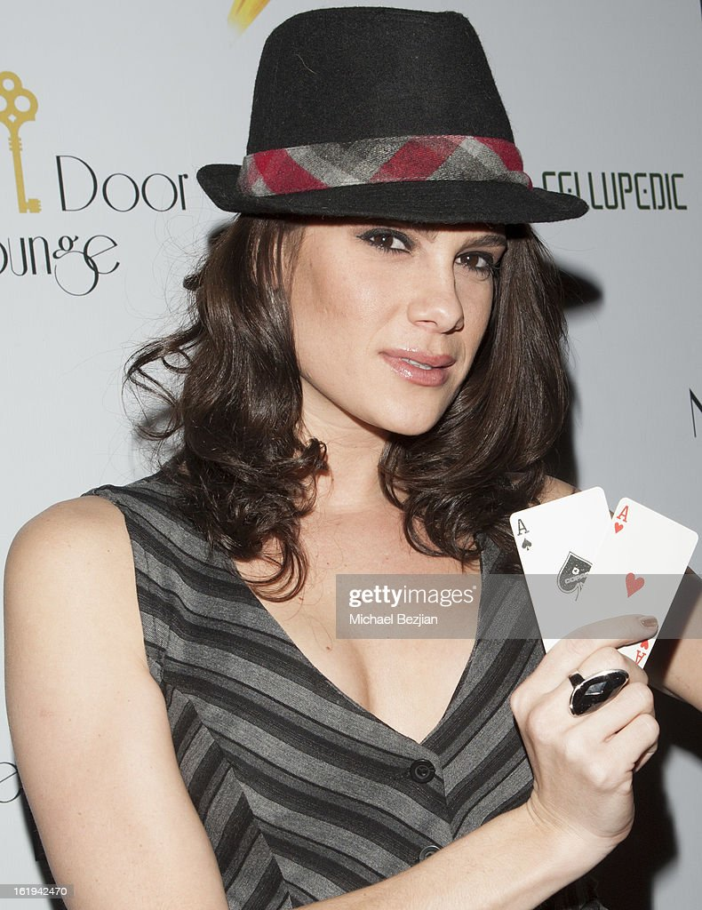 Professional poker player Tiffany Michelle attends Save a Friend's Life Celebrity Poker Tournament and Roaring 20's Party hosted by Joanna Krupa at Next Door Lounge on February 17, 2013 in Hollywood, California.