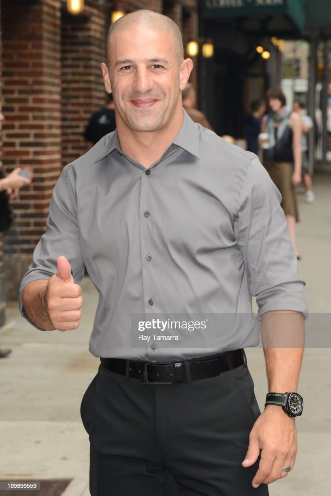 Professional race car driver and 2013 Indianapolis 500 winner <a gi-track='captionPersonalityLinkClicked' href=/galleries/search?phrase=Tony+Kanaan&family=editorial&specificpeople=171962 ng-click='$event.stopPropagation()'>Tony Kanaan</a> enters the 'Late Show With David Letterman' taping at the Ed Sullivan Theater on June 3, 2013 in New York City.