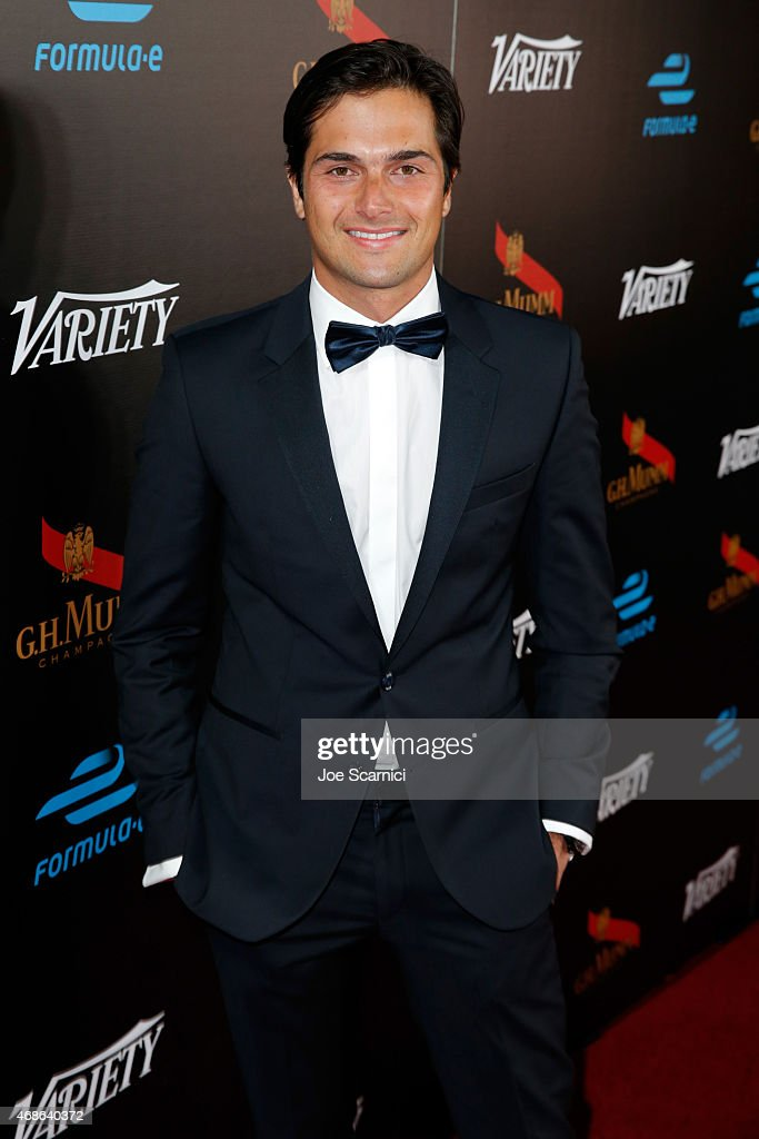 Professional race car driver Nelson Piquet Jr attends the Variety and Formula E Hollywood Gala at Chateau Marmont on April 4 2015 in Los Angeles...