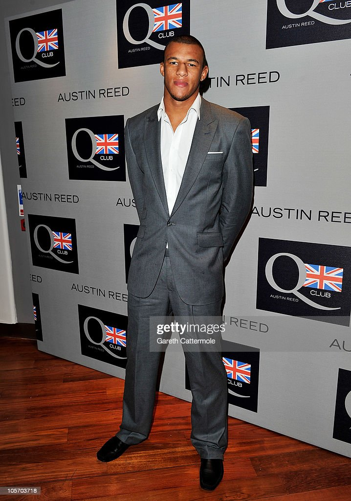 Professional rugby player Courtney Lawes attends the Austin Reed Q Club Launch at the Austin Reed Regent Street store on October 19, 2010 in London, England.