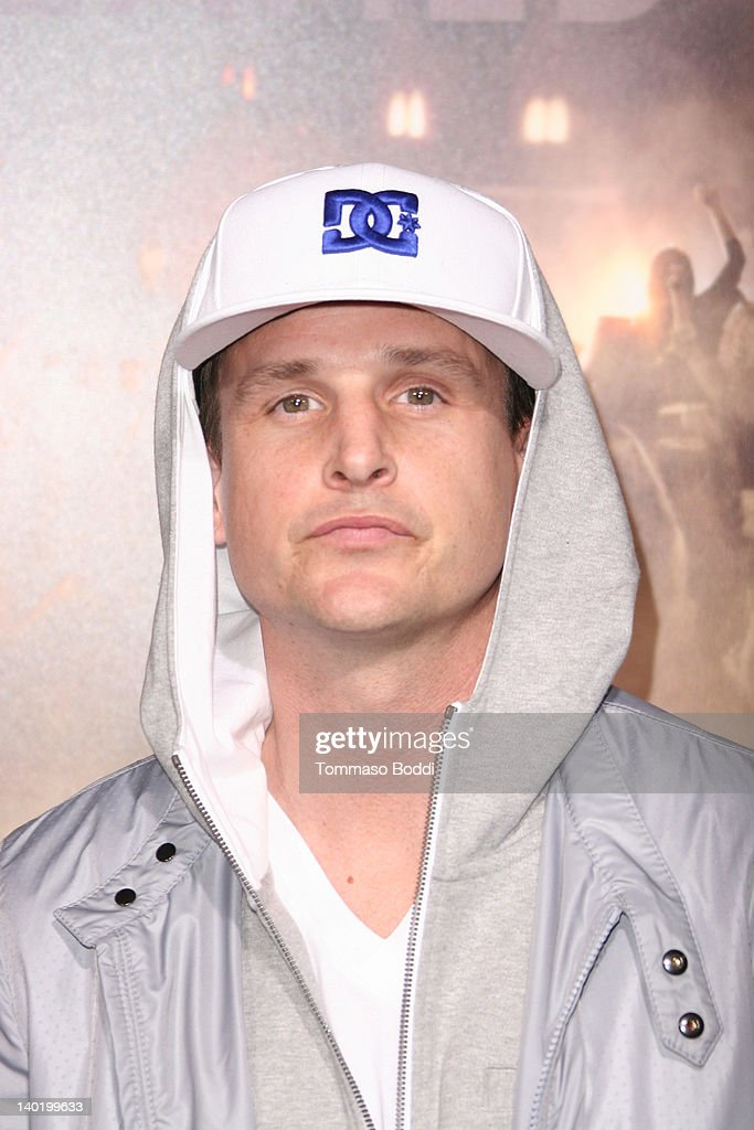 Professional skateboarder <a gi-track='captionPersonalityLinkClicked' href=/galleries/search?phrase=Rob+Dyrdek&family=editorial&specificpeople=3987990 ng-click='$event.stopPropagation()'>Rob Dyrdek</a> attends the 'Project X' Los Angeles premiere held at the Grauman's Chinese Theatre on February 29, 2012 in Hollywood, California.
