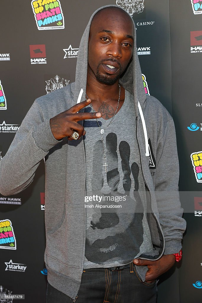 Professional skateboarder Stevie Williams attends the 10th Annual Stand Up For Skateparks Benefiting The Tony Hawk Foundation on October 5, 2013 in Beverly Hills, California.