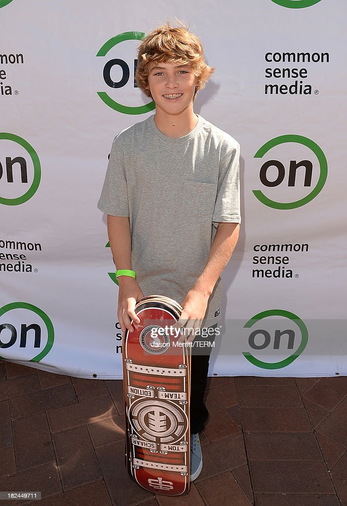 Professional skateboarder Tom Schaar attends the 2nd Annual GameOn! fundraiser hosted by Common Sense Media at Sony Pictures Studios on September 29, 2013 in Culver City, California.