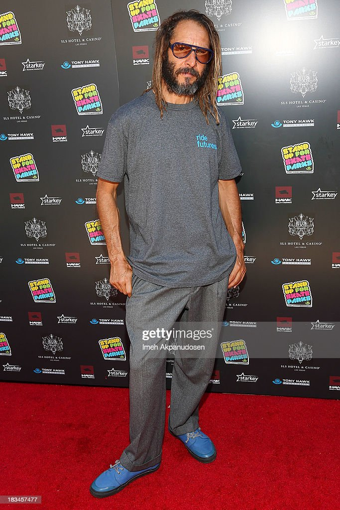 Professional skateboarder <a gi-track='captionPersonalityLinkClicked' href=/galleries/search?phrase=Tony+Alva&family=editorial&specificpeople=238911 ng-click='$event.stopPropagation()'>Tony Alva</a> attends the 10th Annual Stand Up For Skateparks Benefiting The Tony Hawk Foundation on October 5, 2013 in Beverly Hills, California.