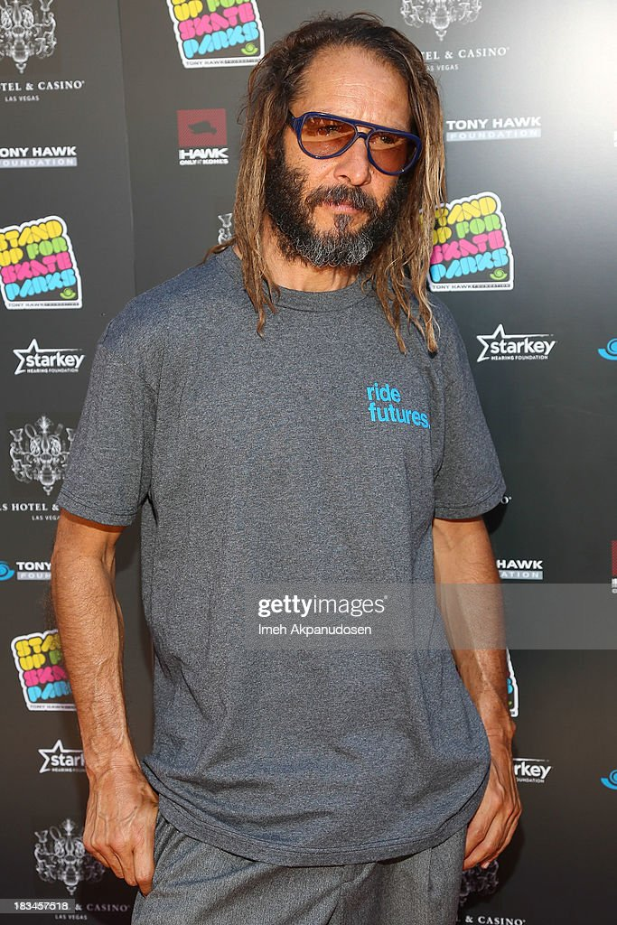 Professional skateboarder Tony Alva attends the 10th Annual Stand Up For Skateparks Benefiting The Tony Hawk Foundation on October 5, 2013 in Beverly Hills, California.
