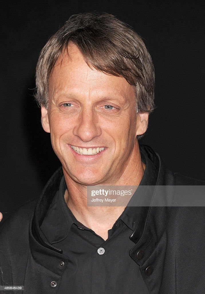 Professional skateboarder Tony Hawk arrives at the Los Angeles premiere of 'Need For Speed' at TCL Chinese Theatre on March 6 2014 in Hollywood...