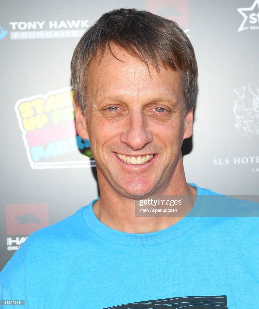 Professional skateboarder Tony Hawk attends the 10th Annual Stand Up For Skateparks Benefiting The Tony Hawk Foundation on October 5, 2013 in Beverly Hills, California.