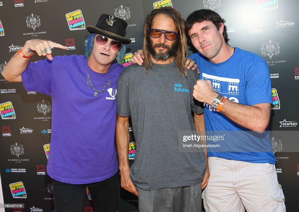 Professional skateboarders Kevin Staab, Tony Alva, and Andy Macdonald attend the 10th Annual Stand Up For Skateparks Benefiting The Tony Hawk Foundation on October 5, 2013 in Beverly Hills, California.