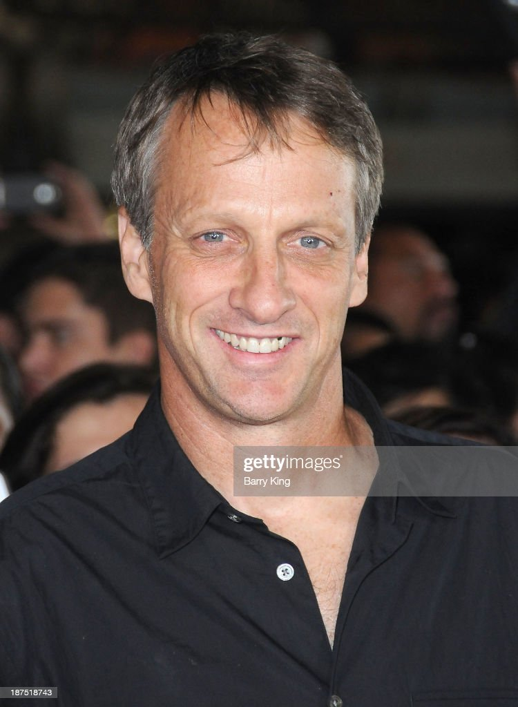 Professional skater <a gi-track='captionPersonalityLinkClicked' href=/galleries/search?phrase=Tony+Hawk+-+Skateboarder&family=editorial&specificpeople=201818 ng-click='$event.stopPropagation()'>Tony Hawk</a> attends the Los Angeles premiere of 'Bad Grandpa: Presented by Jackass' on October 23, 2013 at TCL Chinese Theatre in Hollywood, California.