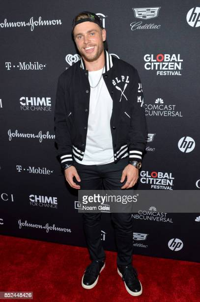 Professional Skier Gus Kenworthy poses in the VIP Lounge during the 2017 Global Citizen Festival in Central Park on September 23 2017 in New York City