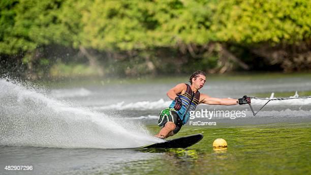 Professional Slalom Skier