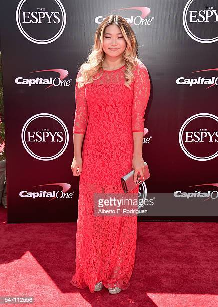 Professional snowboarder Chloe Kim attends the 2016 ESPYS at Microsoft Theater on July 13 2016 in Los Angeles California