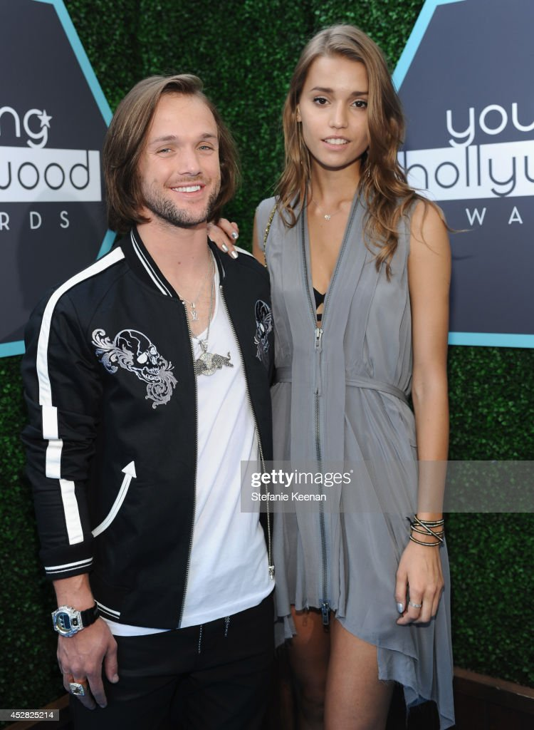 Professional snowboarder Louie Vito and guest attends the 2014 Young Hollywood Awards brought to you by Samsung Galaxy at The Wiltern on July 27 2014...